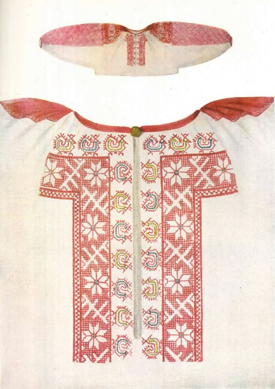 General view of a women's shirt. <br/>19th century