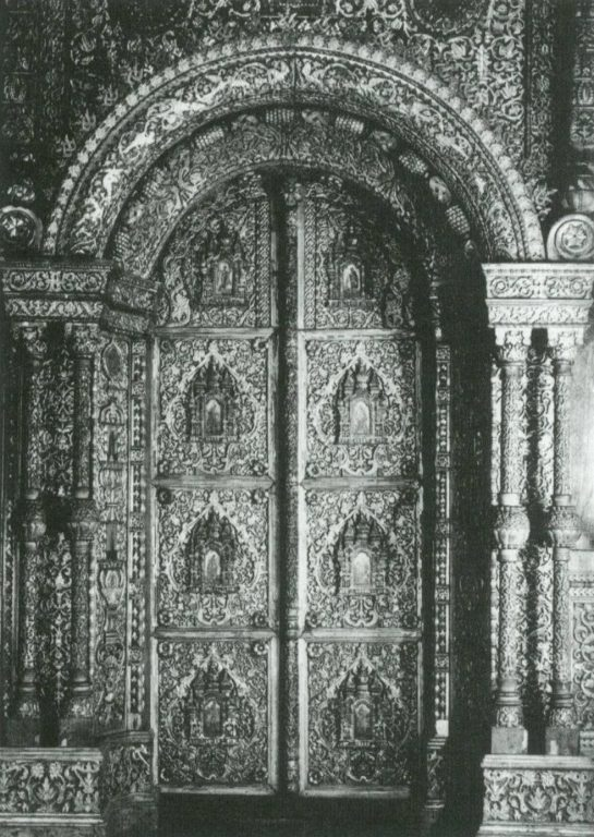 The Holy Gates of the Holy Trinity Aisle at the Church of the Resurrection on Debra. <br/>17th century