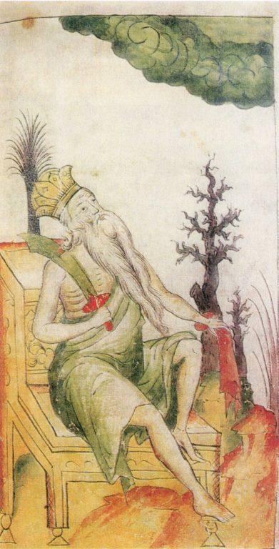 «Зима». Миниатюра лицевой рукописи. <br/>17 век