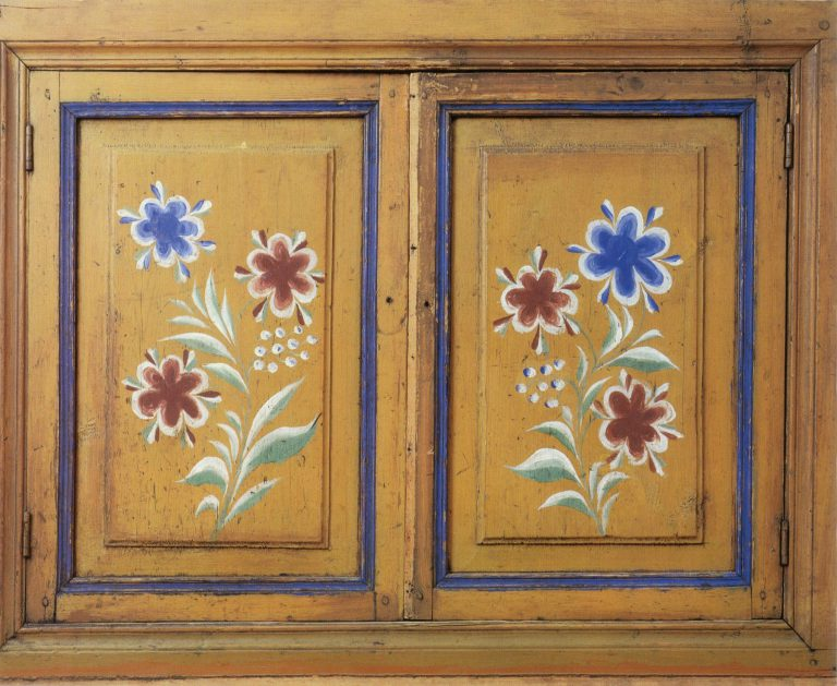 Paintings on the сupboard doors. <br/>1929 year