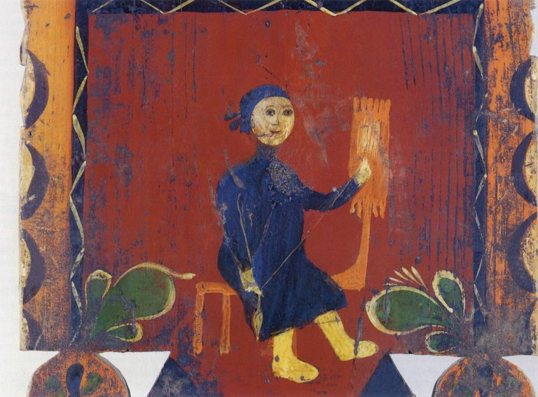 Distaff painting. Detail
