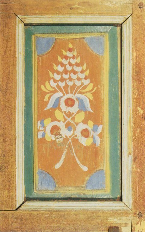 Door painting. Detail. Early 20th century