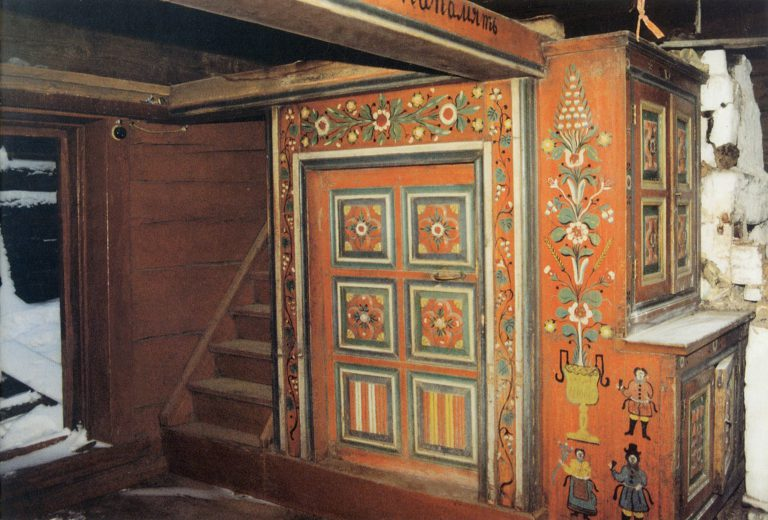 Detail of the interior painting of the house of A. Lisitsynsky. 1908 year