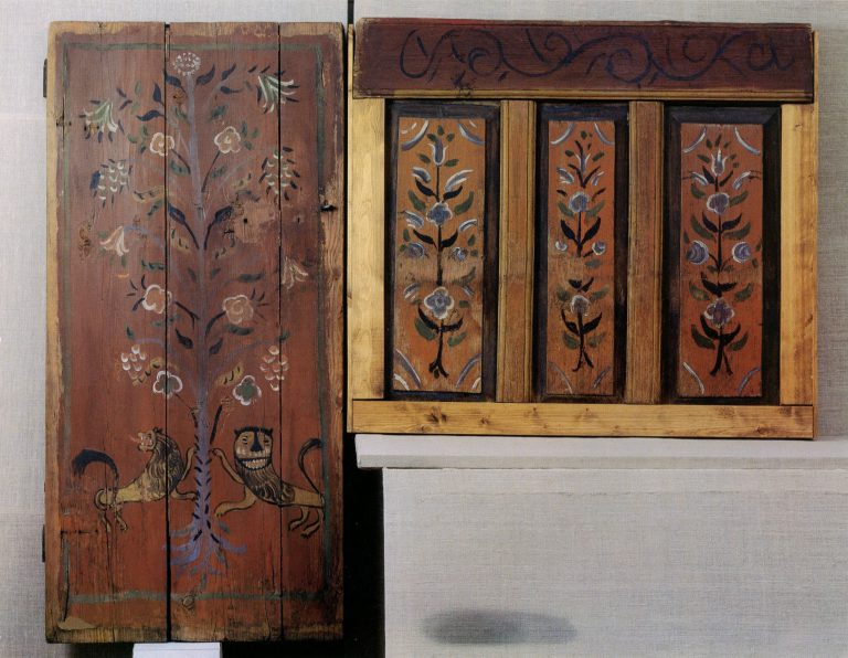 Door and stove wooden panel from the house of V. Sinitsky. <br/>1901 year