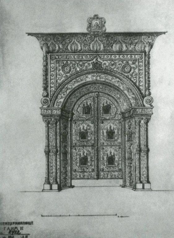 Царские врата в церкви Воскресения на Дебре. 17 век