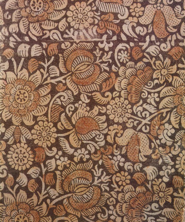 Printed fabric. Fragment. <br/>Late 17th century