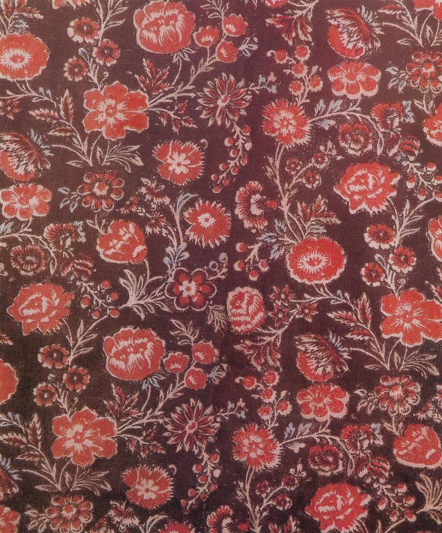 Printed fabric. Detail. <br/>18th century