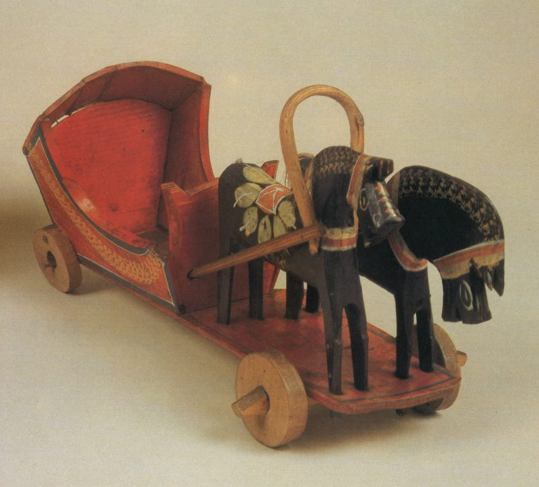 "Toy ""Two harnessed horses"". 1930ies"