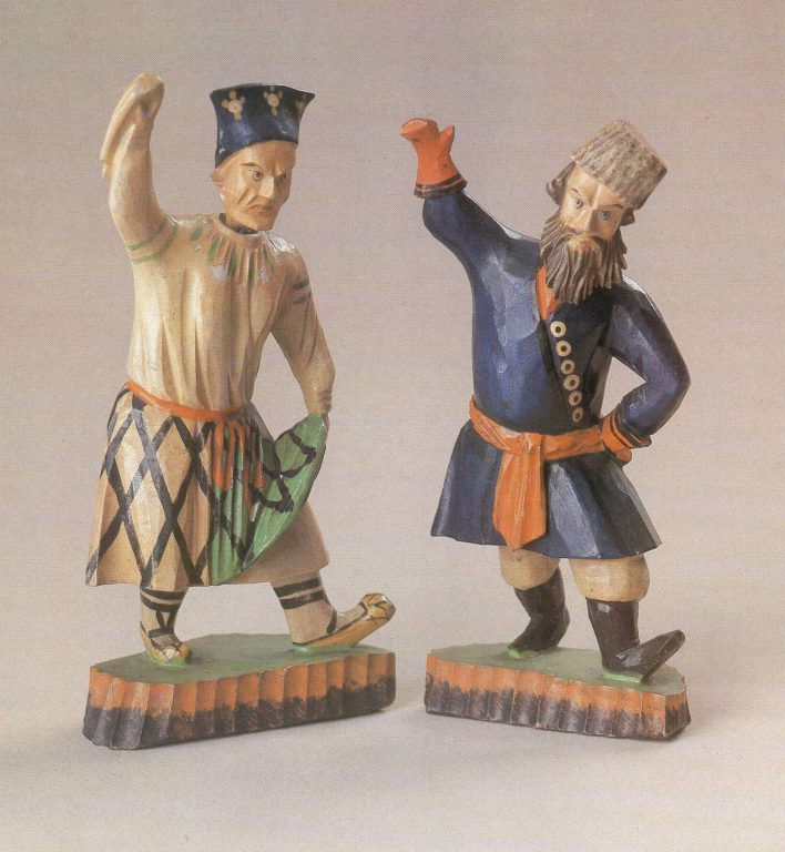 """Toy """"Dancing peasants"""". <br/>Mid - 19th century"""