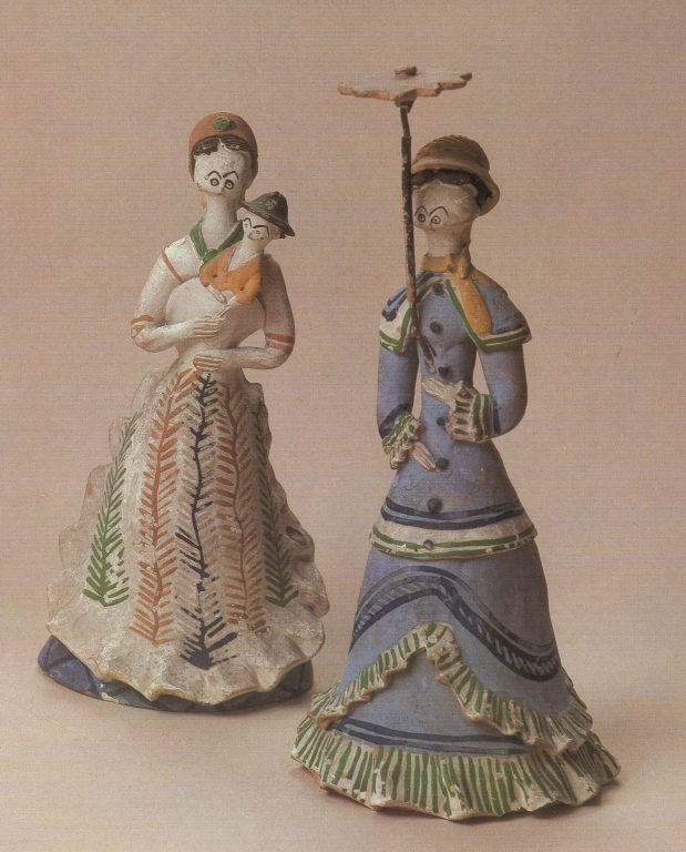 "Toys ""Wet-nurse"", ""Gentelwoman with an umbrella"". <br/>1880ies"