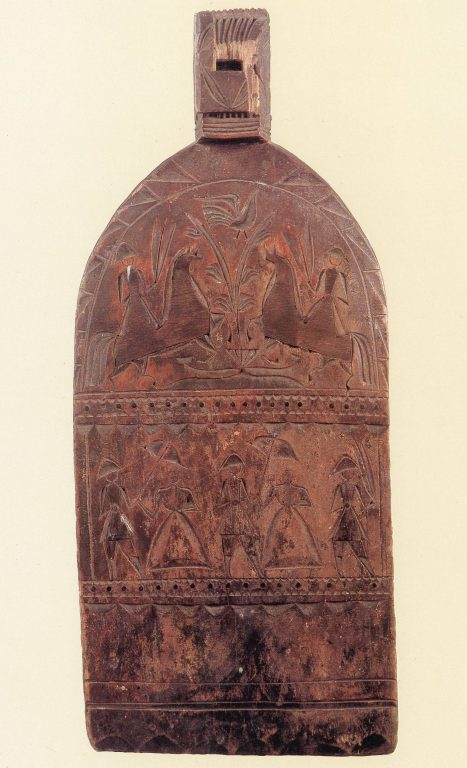 Distaff board. <br/>Mid-19th century