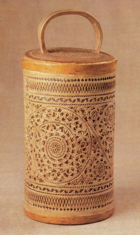 Tues (birch-bark container). <br/>19th century
