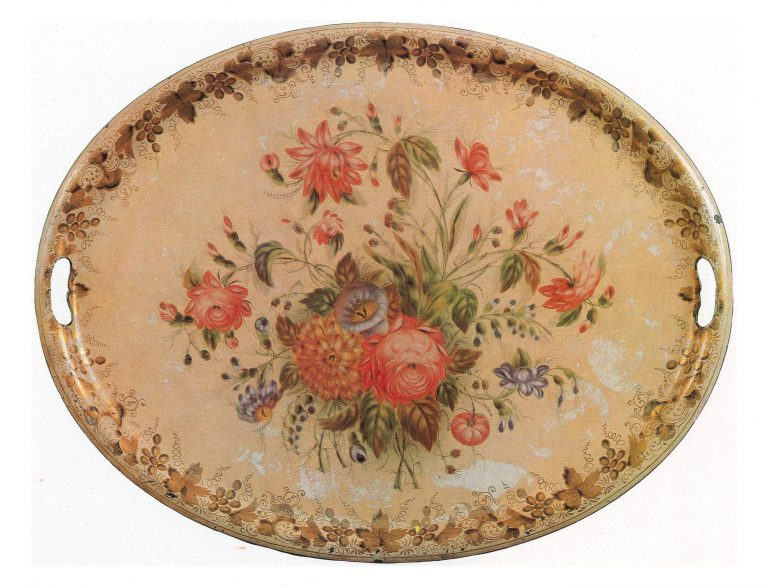 Oval tray. <br/>1870ies