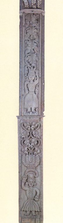 Pilaster of Mokhov's house. 1866 year