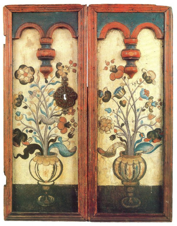 Door of a small cupboard. <br/>18th century