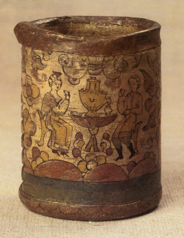 Tuesok (birch-bark container). <br/>First half of 19th century