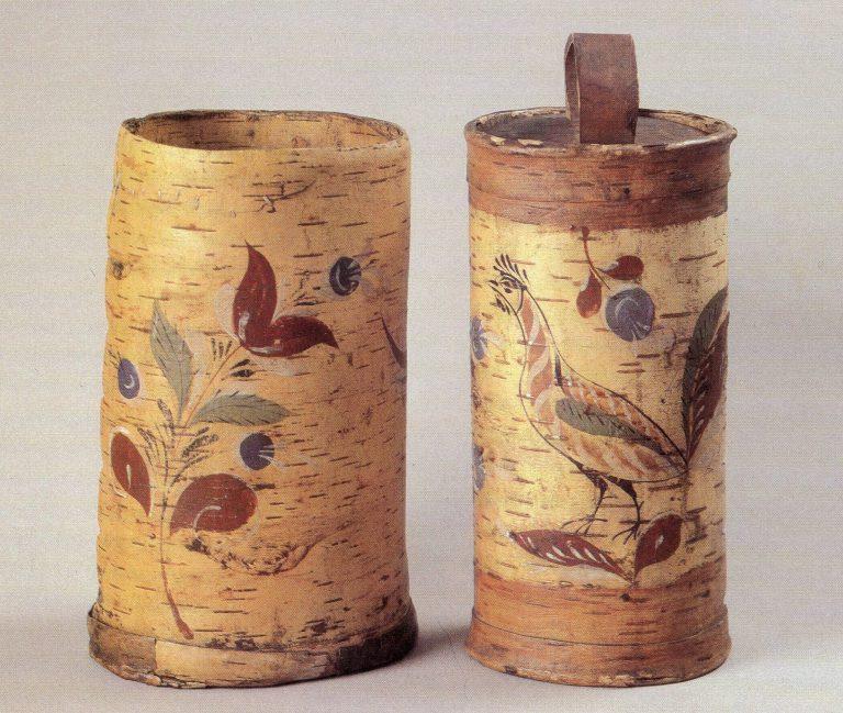 Tuesа (birch bark containers). <br/>19th century