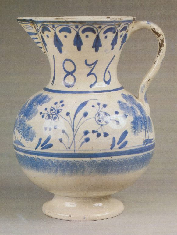 Pitcher. 1836 year