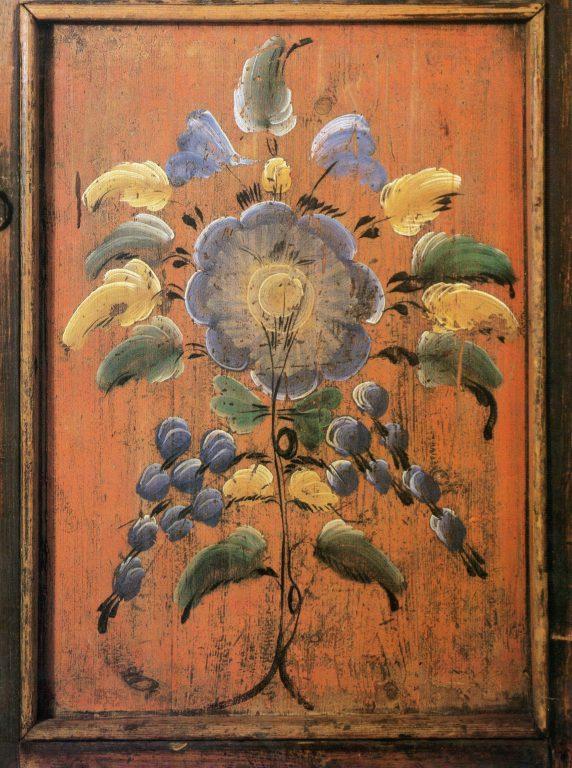 Шкаф-залавок. Роспись дверки. <br/>1905-1907 год
