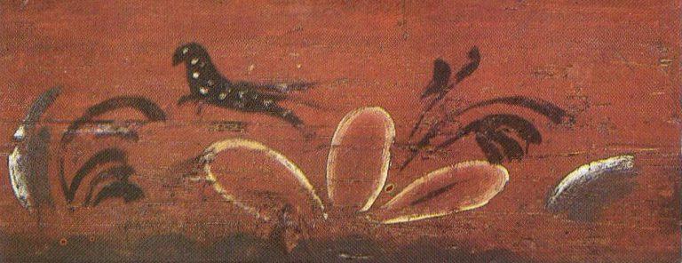 Опечек, фрагмент росписи. <br/>Начало 20 века