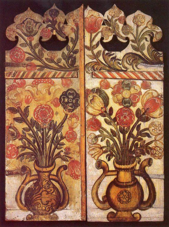 Врата алтарные. Две створки. <br/>17 век