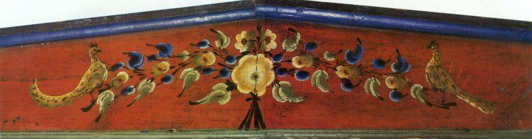 Грядка. Фрагмент росписи (Дом Щеткиной М. М). <br/>1909 год