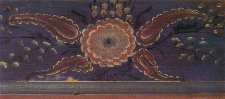 Деталь интерьера. (Дом Суслова И.) Грядка. Фрагмент росписи. <br/>Рубеж 19-20 веков