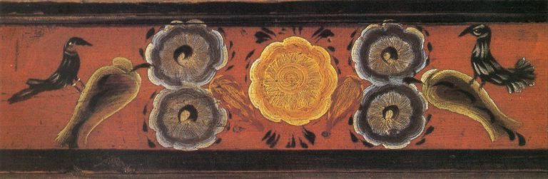 Грядка, фрагмент росписи (Дом Бражниковой А. И). <br/>1905 год