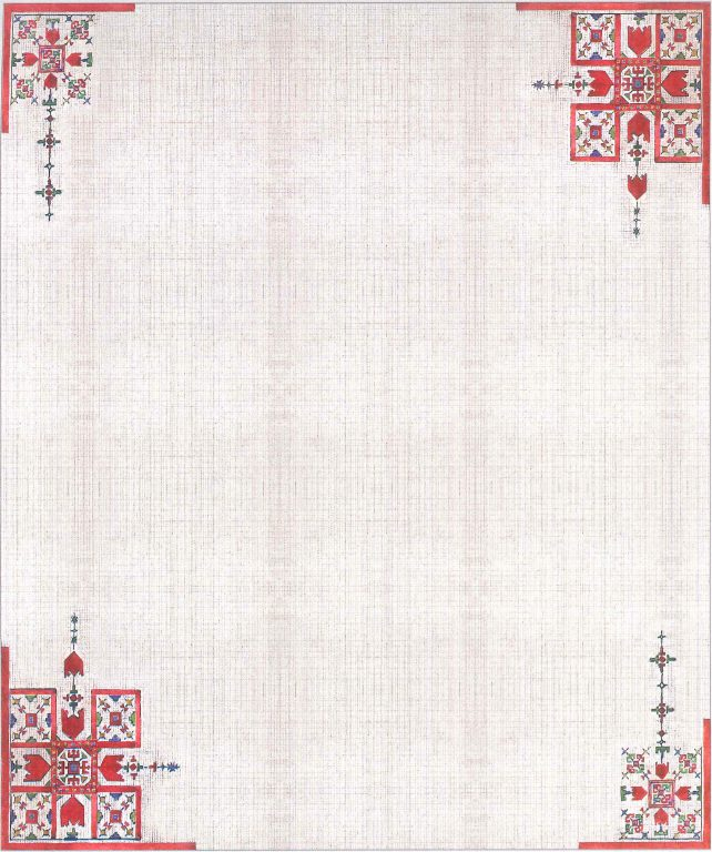 Fiancee coverlet. <br/>18th century