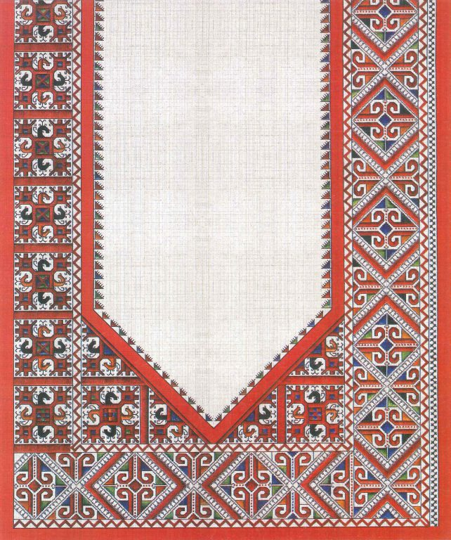 Bridegroom kerchief. Fragment. <br/>18th century