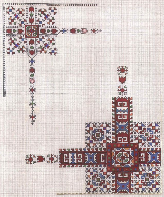 Fiancee coverlet. Fragment. <br/>18th century