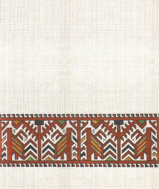 Узор платка жениха. Фрагмент. <br/>18 век