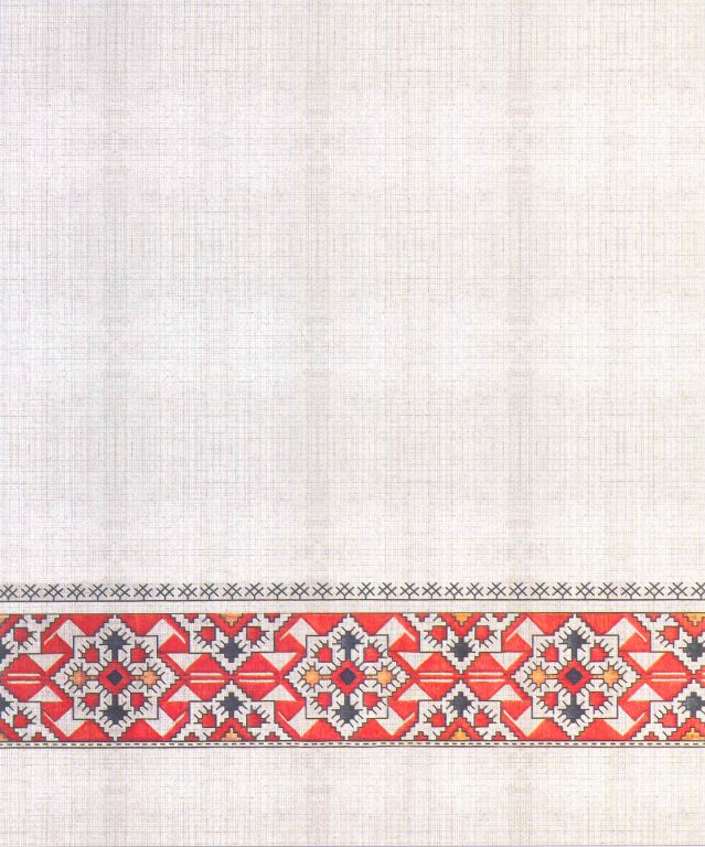 Fiancee coverlet's pattern. Fragment. <br/>18th century