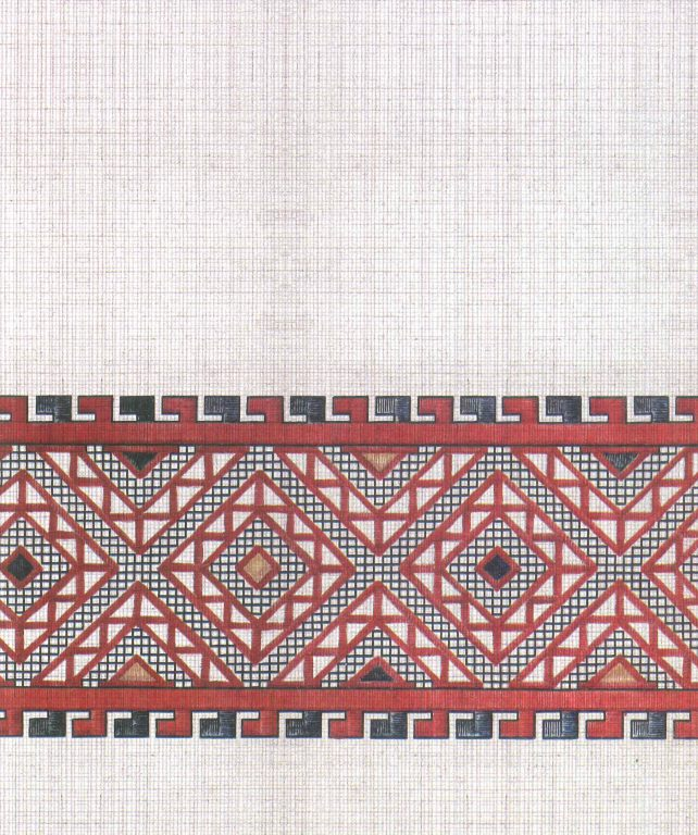 Bridegroom kerchief's pattern. Fragment. First half of 19th century