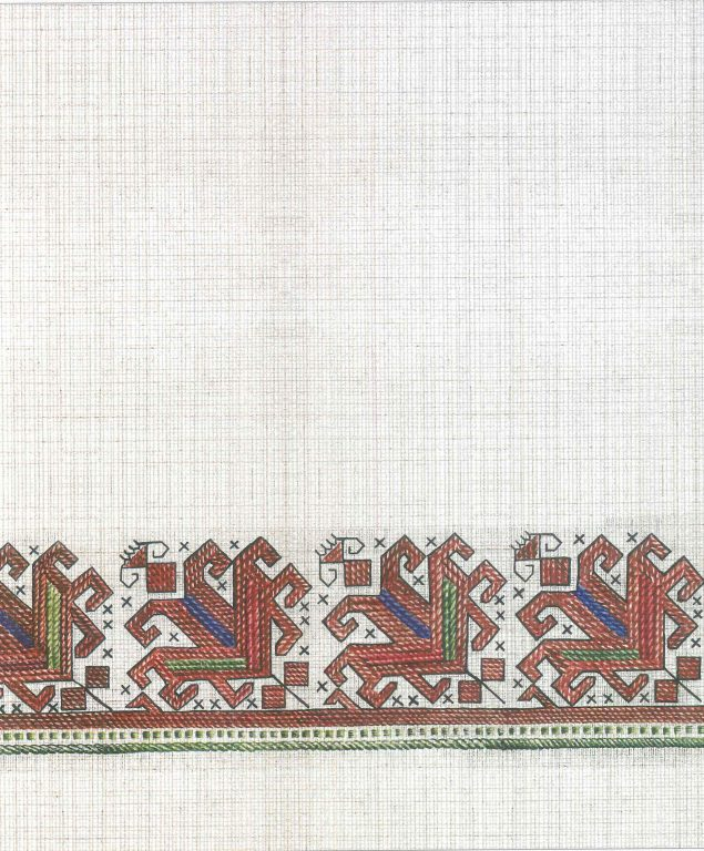 Male robe's pattern. Fragment. 18th century