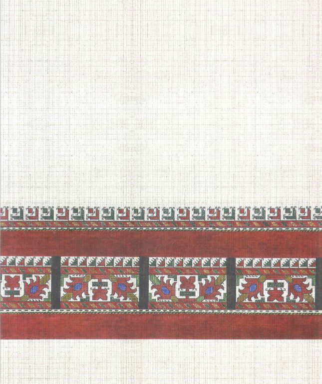Male robe's pattern. Fragment. <br/>18th century