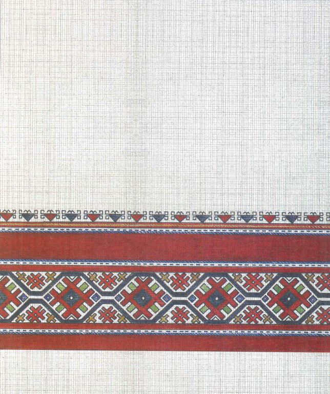 Male robe's pattern. Fragment. First half of 19th century