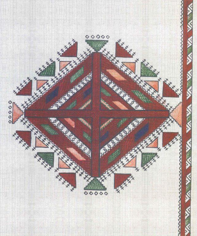 Нагрудный узор женской рубахи. <br/>18 век