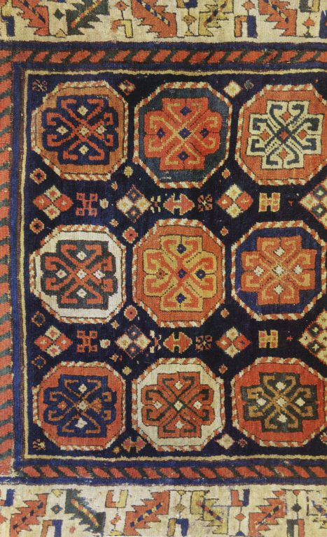 Pile rug. Fragment. 19th century