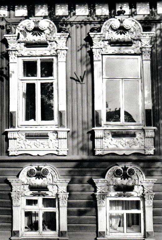 Наличник дома. Деталь. <br/>Вторая половина 19 века - начало 20 века