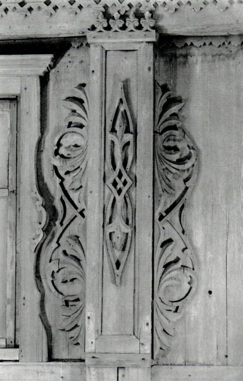 Carved decoration on the facade. Fragment. Second half of 19th century - early of 20th century