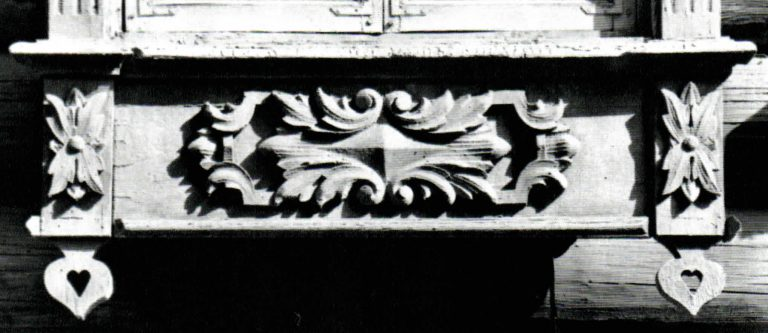 Decoration of a window ledge. <br/>Second half of 19th century - early of 20th century