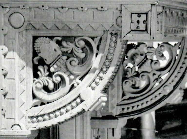 Porch brackets. <br/>Second half of 19th century - early of 20th century