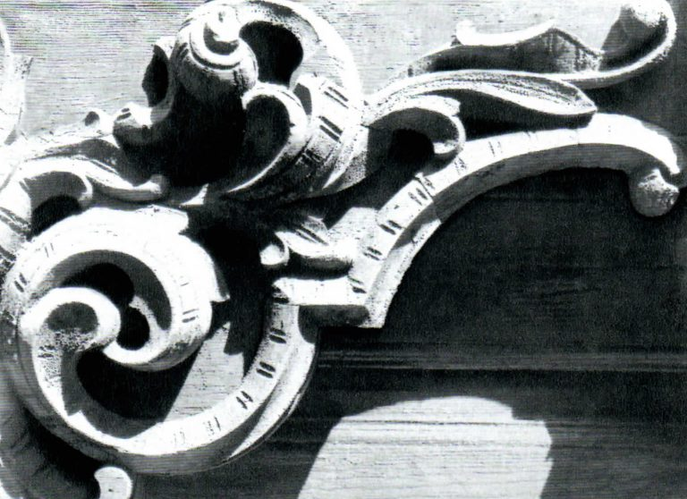 Part of a window ledge. <br/>Second half of 19th century - early of 20th century