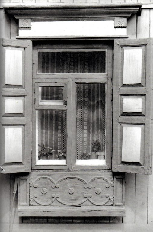 Window of a house.  Interpretation of the «Creeping Vine» decoration. <br/>Early 20th century