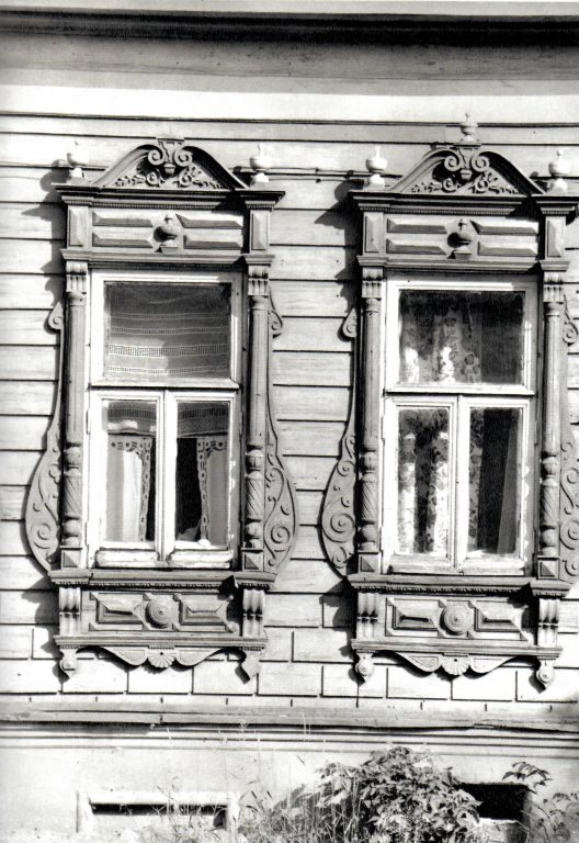 Window frame and the main part of the facade. Second half of 19th century - early of 20th century