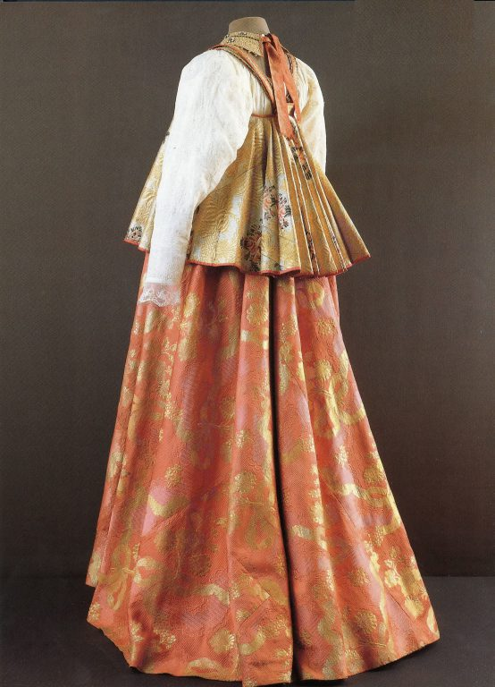 Woman's festive clothes. <br/>First half of the 19th century
