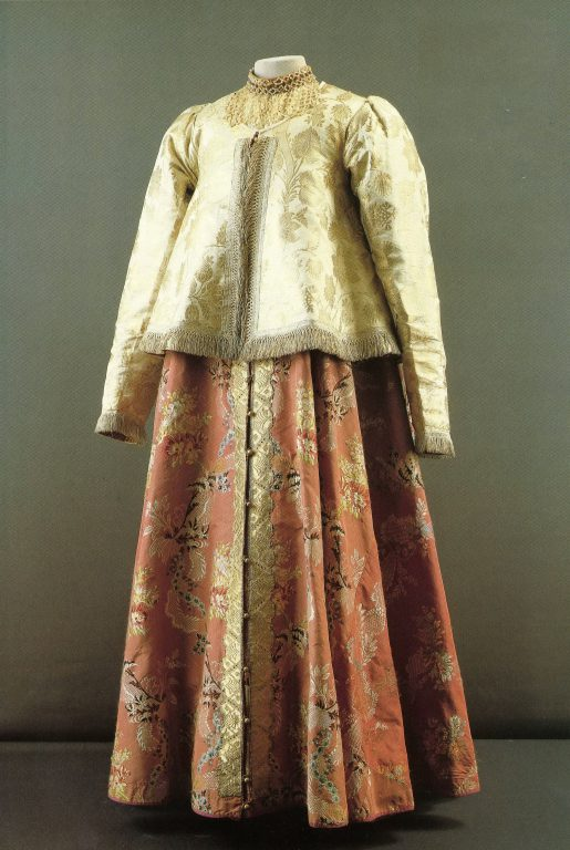 Woman's festive clothes. Late 18th century