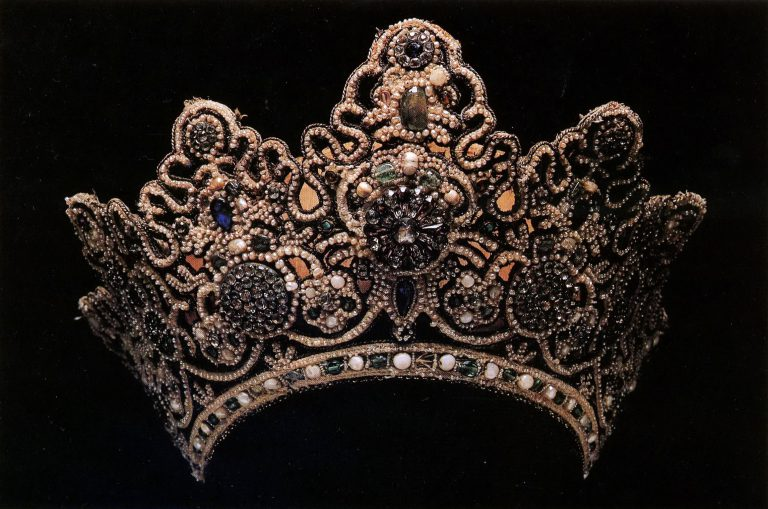 Unmarried girl's headdress. <br/>Second half of the 18th century