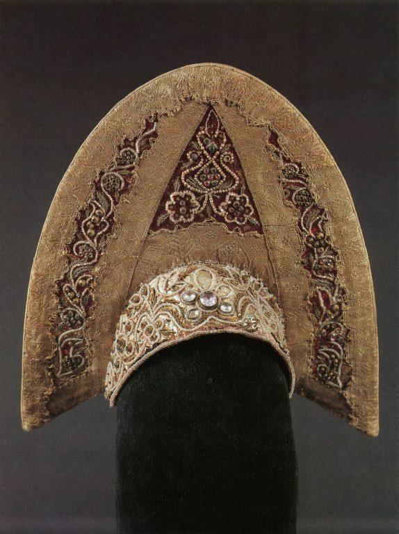 Kokoshnik headdress. <br/>Late 18th - early 19th centuries